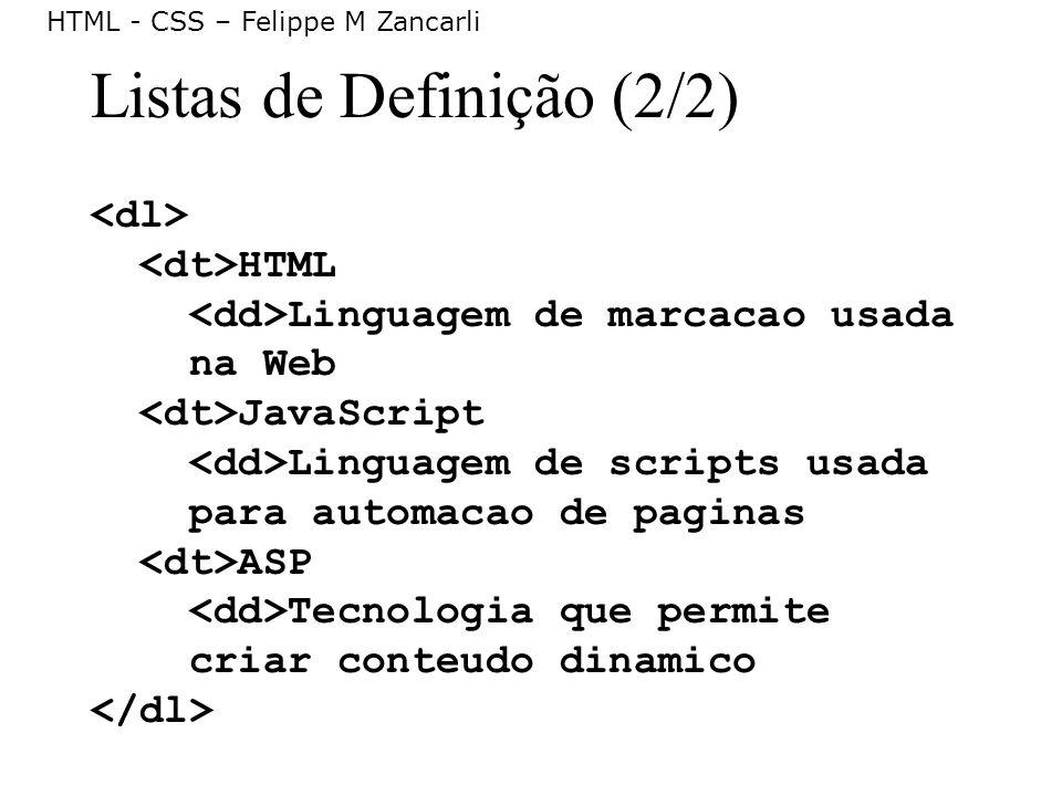 Listas de Definição (2/2)