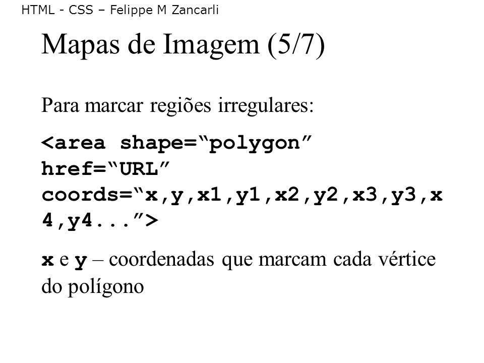 Mapas de Imagem (5/7) Para marcar regiões irregulares: