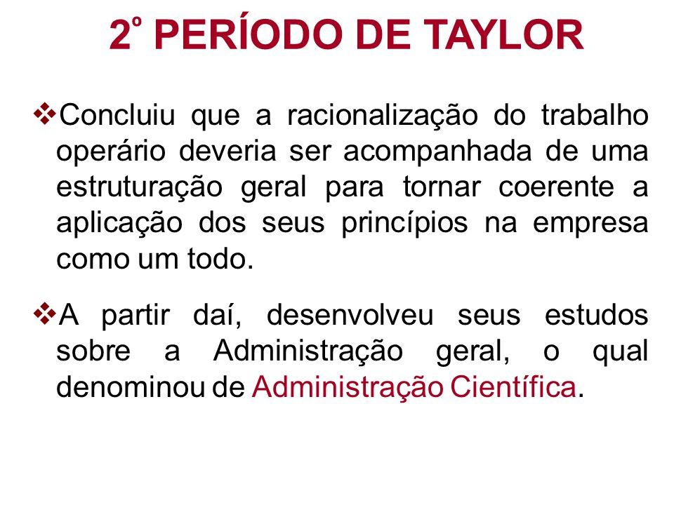 2º PERÍODO DE TAYLOR