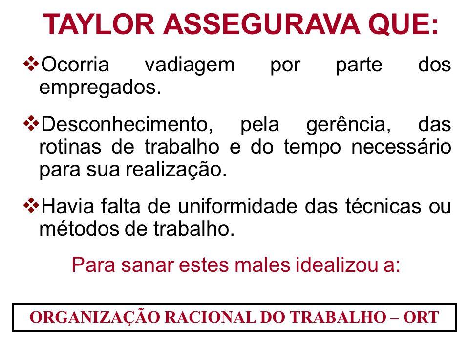TAYLOR ASSEGURAVA QUE: