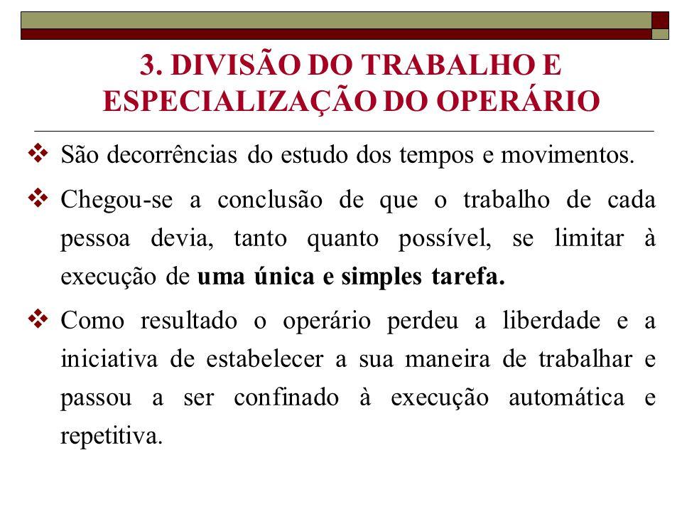 3. DIVISÃO DO TRABALHO E ESPECIALIZAÇÃO DO OPERÁRIO