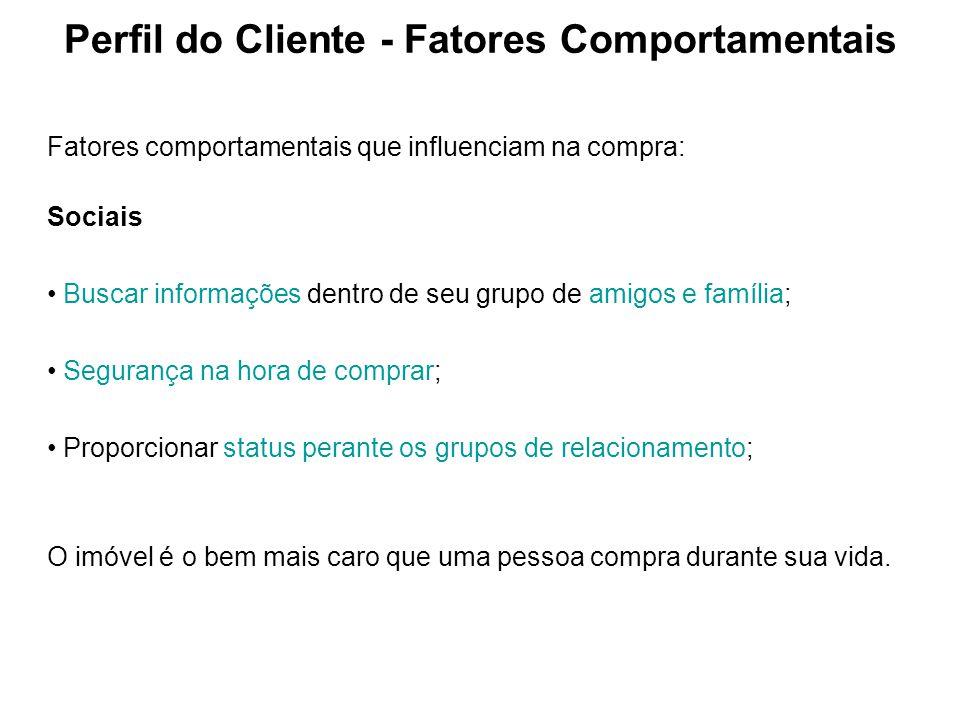 Perfil do Cliente - Fatores Comportamentais
