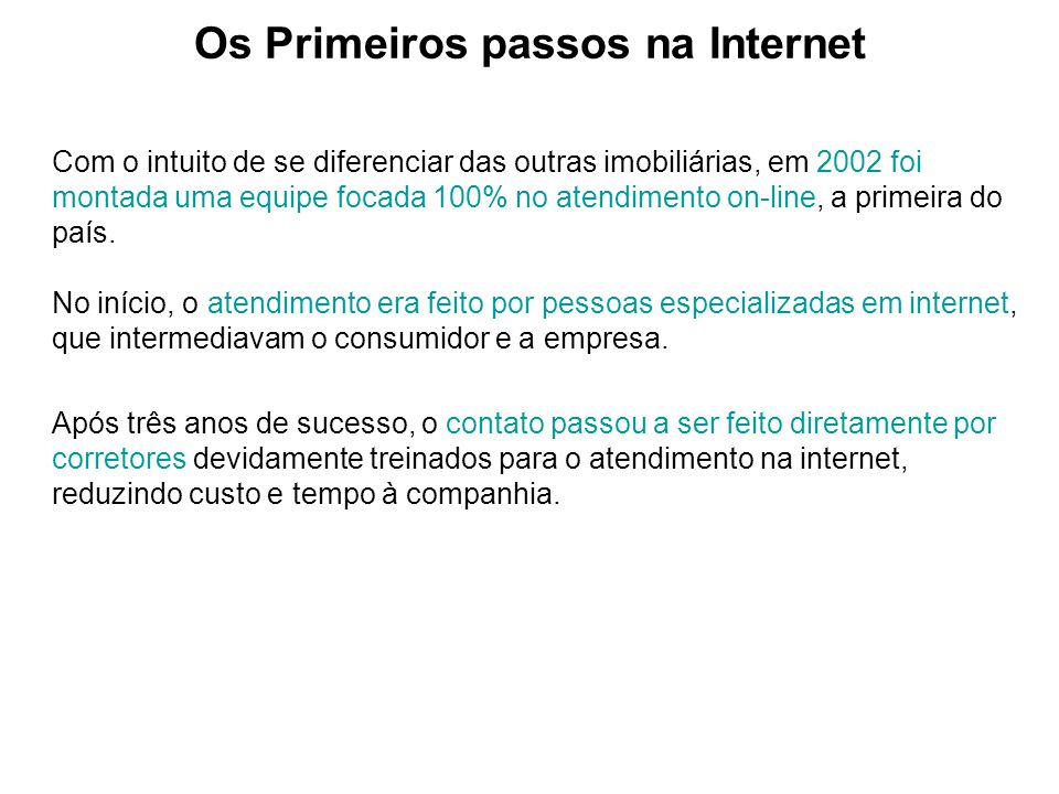 Os Primeiros passos na Internet