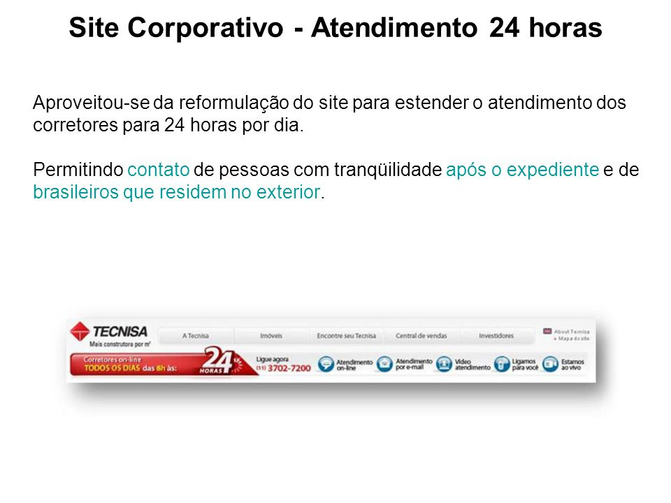 Site Corporativo - Atendimento 24 horas