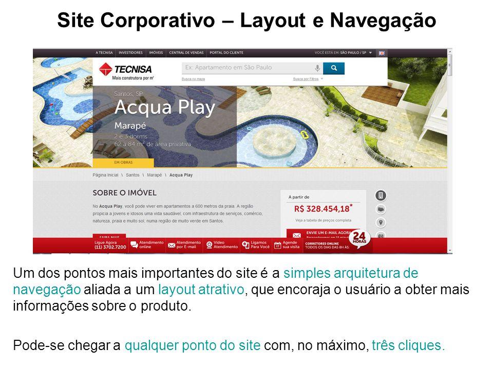 Site Corporativo – Layout e Navegação