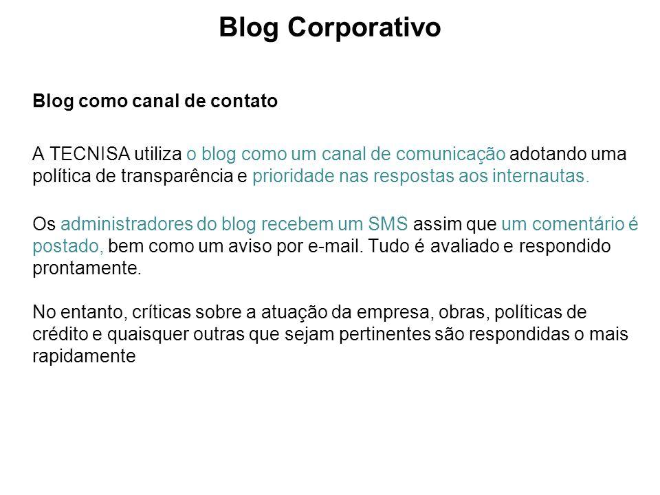 Blog Corporativo Blog como canal de contato