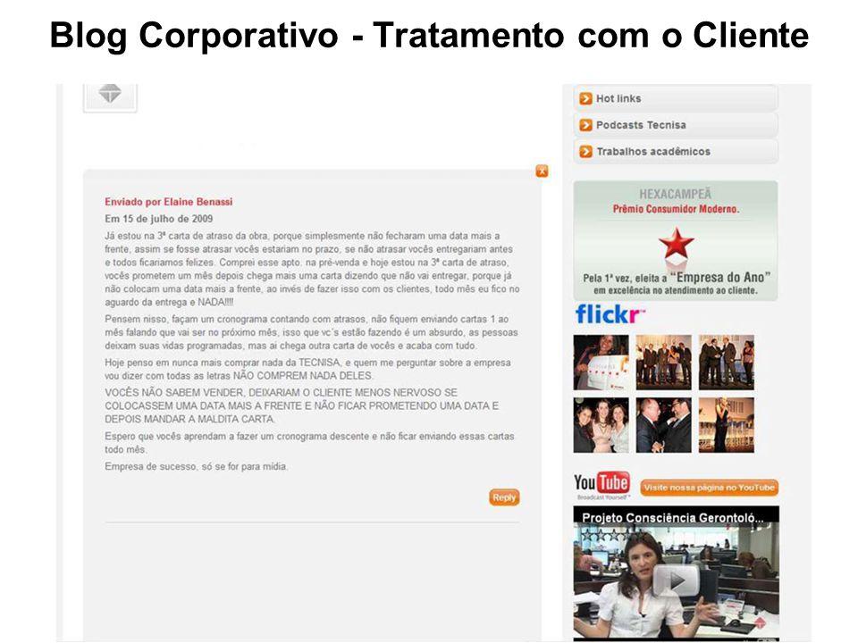 Blog Corporativo - Tratamento com o Cliente