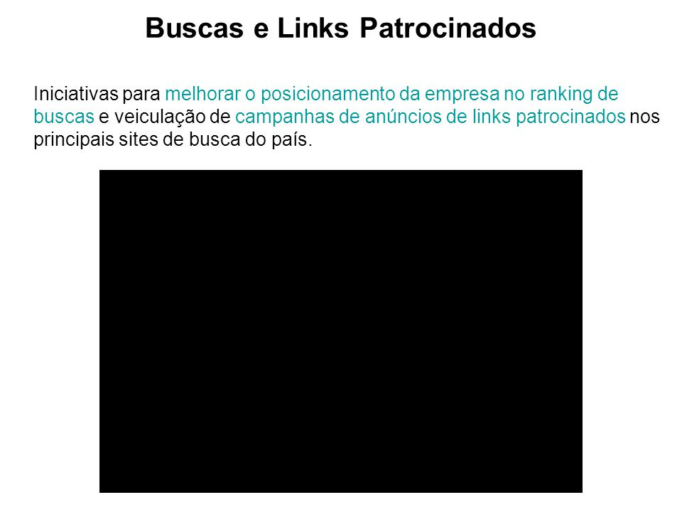 Buscas e Links Patrocinados