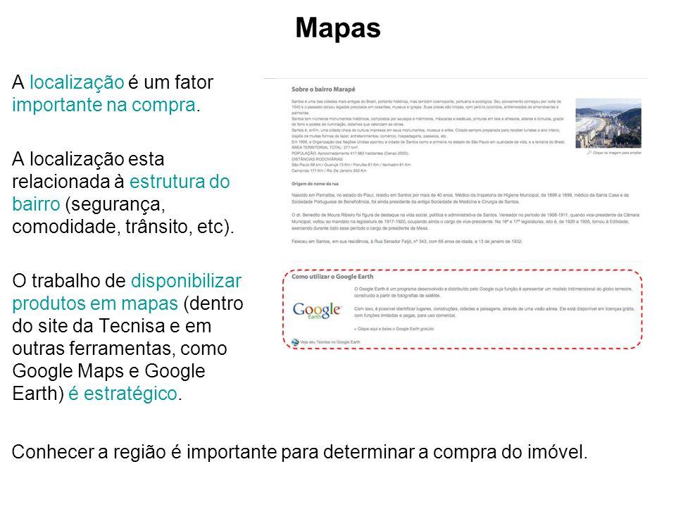 Mapas A localização é um fator importante na compra.
