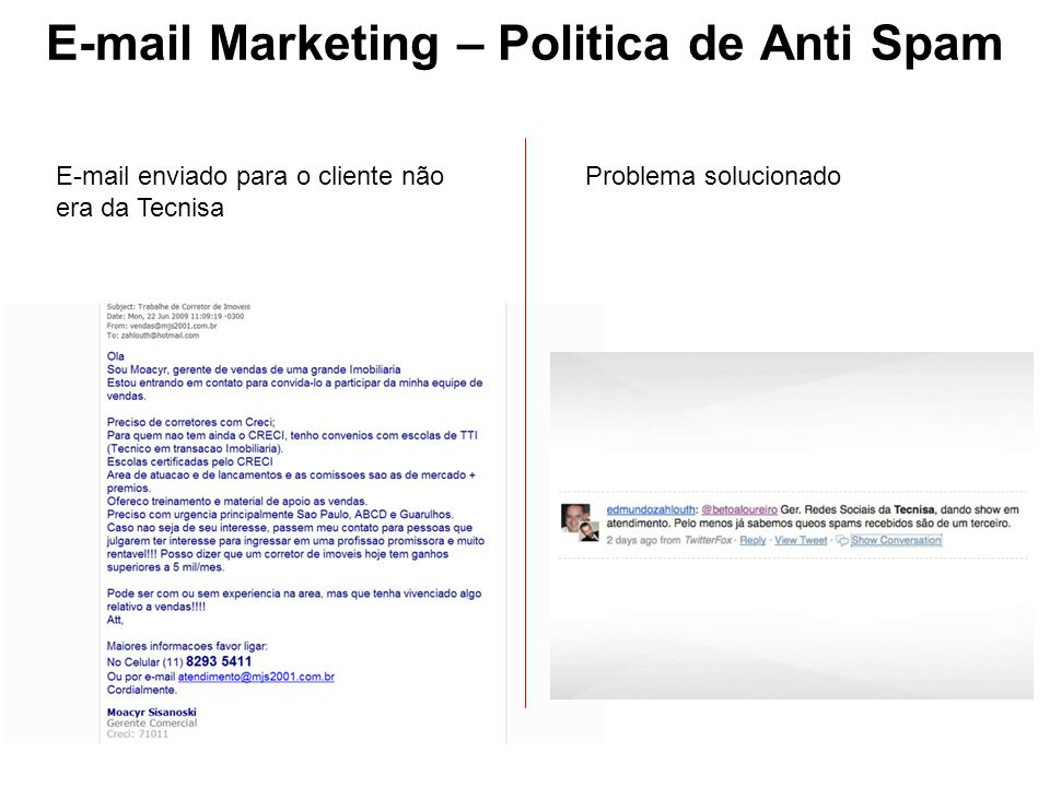 E-mail Marketing – Politica de Anti Spam