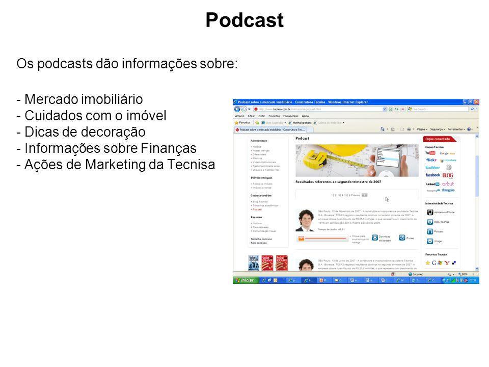 Podcast Os podcasts dão informações sobre: