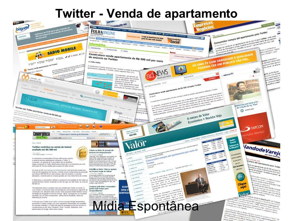 Twitter - Venda de apartamento