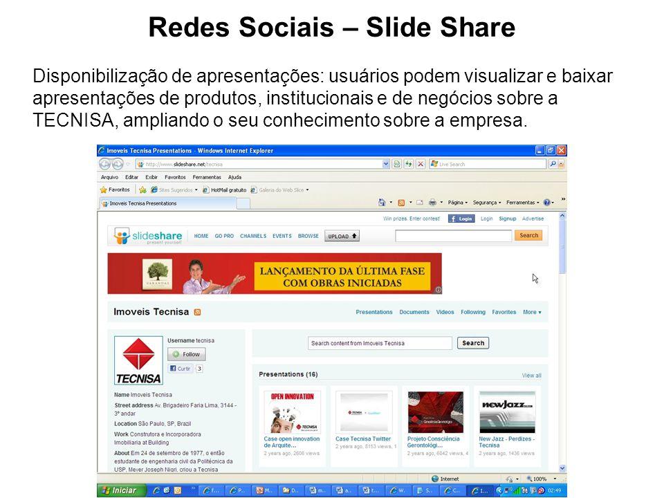 Redes Sociais – Slide Share