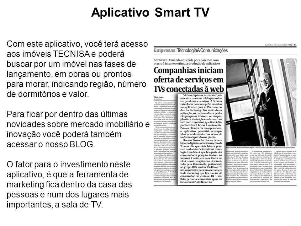 Aplicativo Smart TV