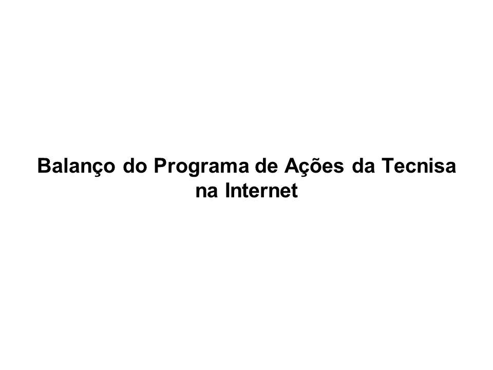 Balanço do Programa de Ações da Tecnisa na Internet