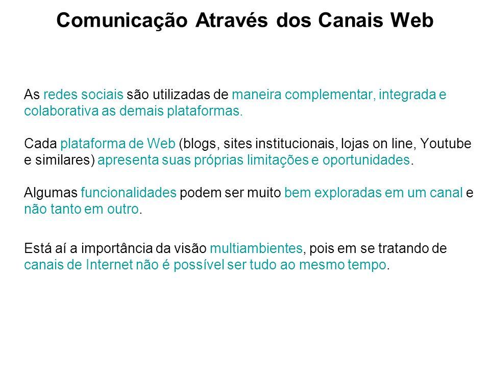 Comunicação Através dos Canais Web