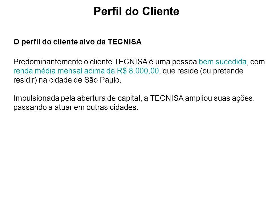Perfil do Cliente O perfil do cliente alvo da TECNISA