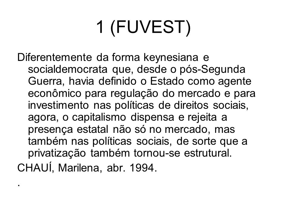 1 (FUVEST)