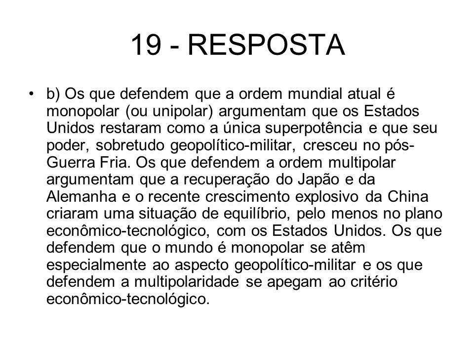 19 - RESPOSTA