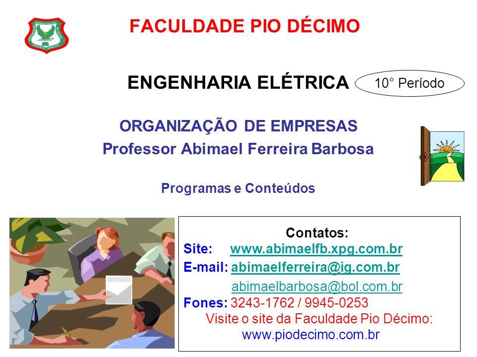 ORGANIZAÇÃO DE EMPRESAS Professor Abimael Ferreira Barbosa