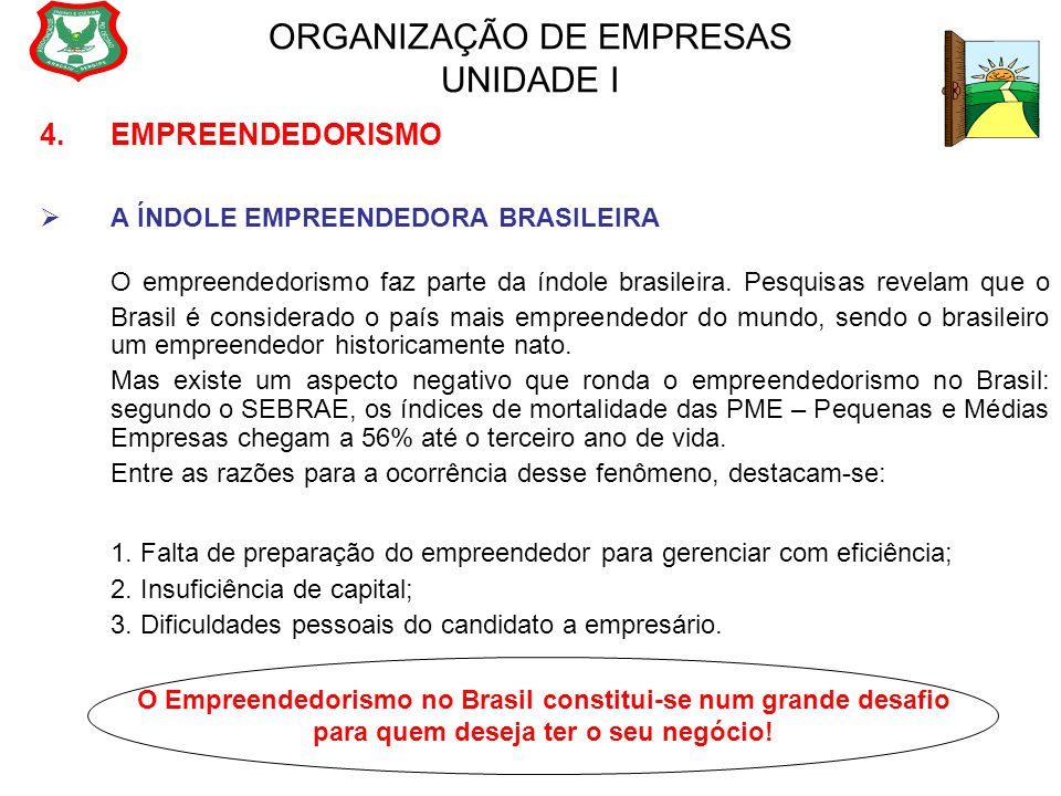 ORGANIZAÇÃO DE EMPRESAS UNIDADE I