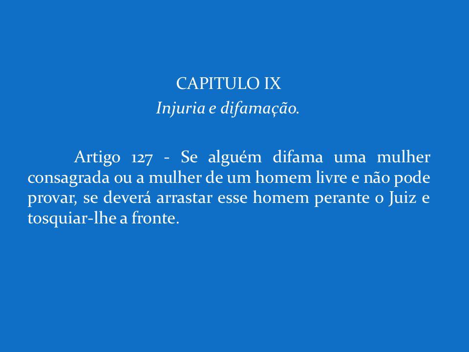 CAPITULO IX Injuria e difamação.