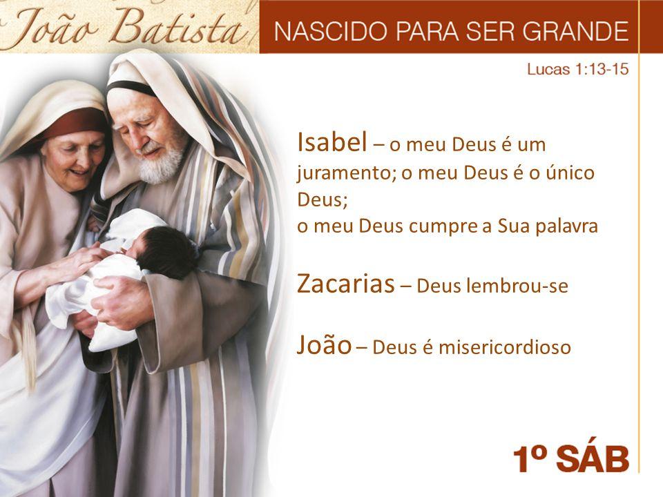 Isabel – o meu Deus é um juramento; o meu Deus é o único Deus;