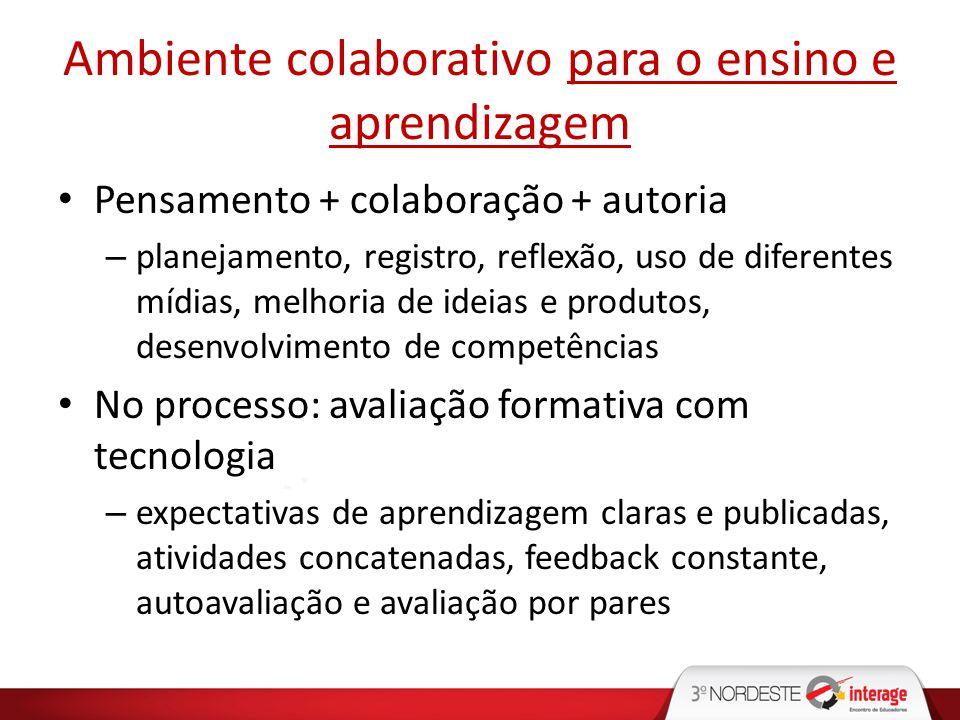 Ambiente colaborativo para o ensino e aprendizagem