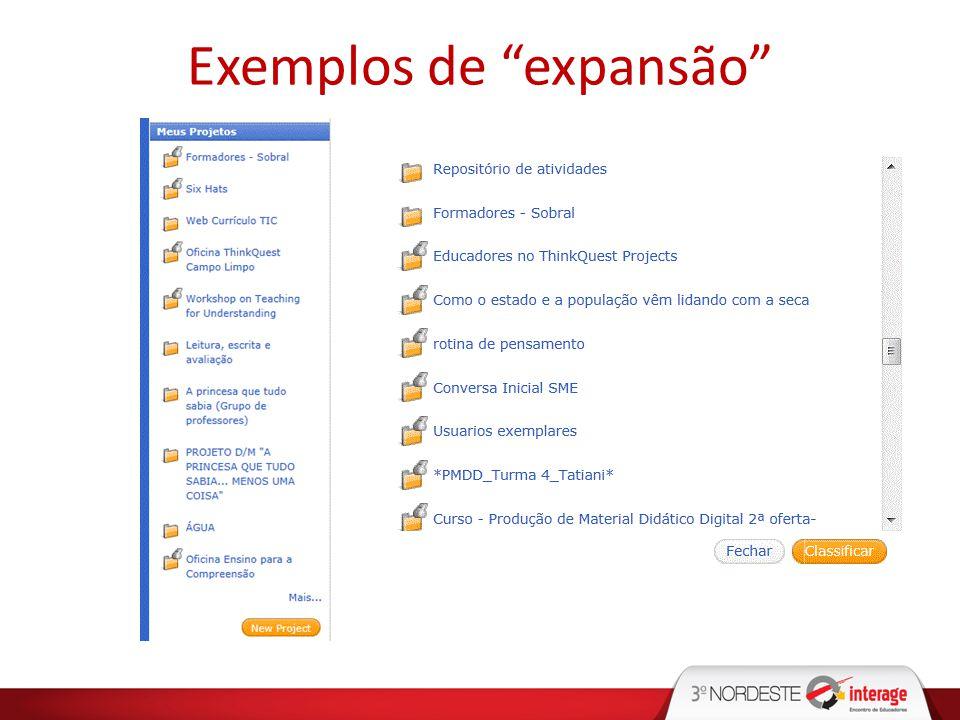 Exemplos de expansão