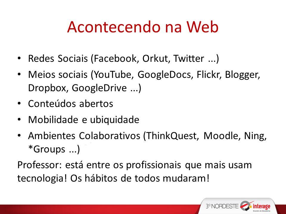 Acontecendo na Web Redes Sociais (Facebook, Orkut, Twitter ...)