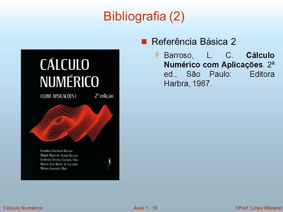 Bibliografia (2) Referência Básica 2