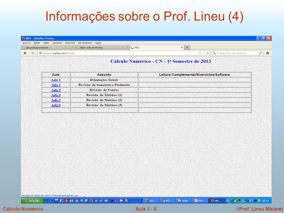 Informações sobre o Prof. Lineu (4)
