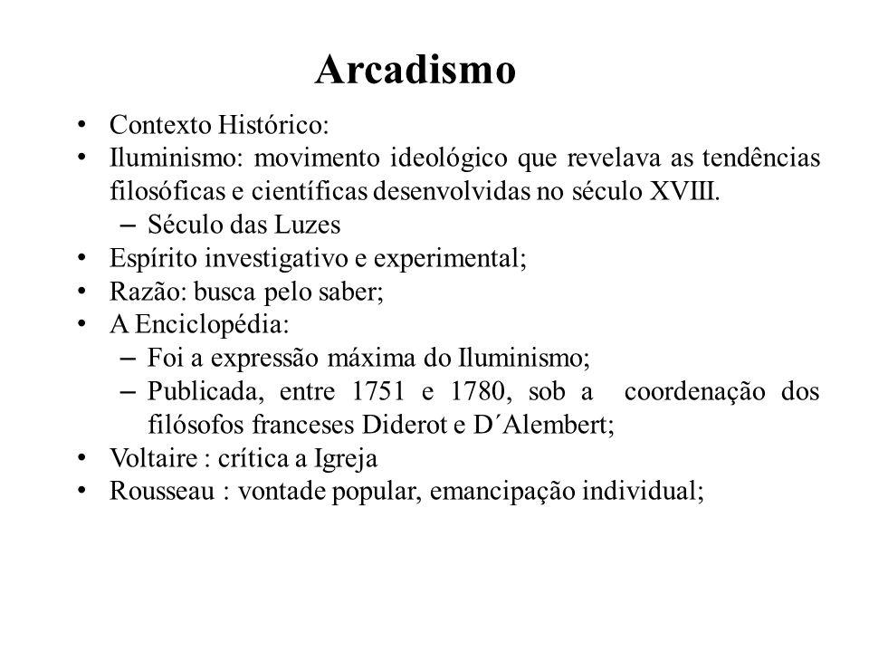 Arcadismo Contexto Histórico:
