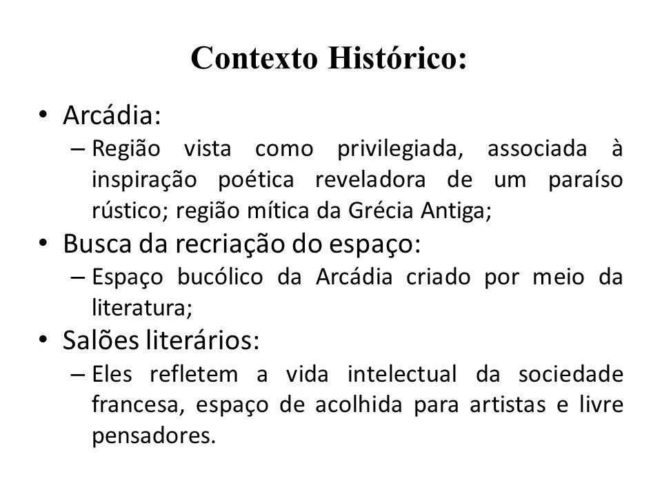 Contexto Histórico: Arcádia: Busca da recriação do espaço: