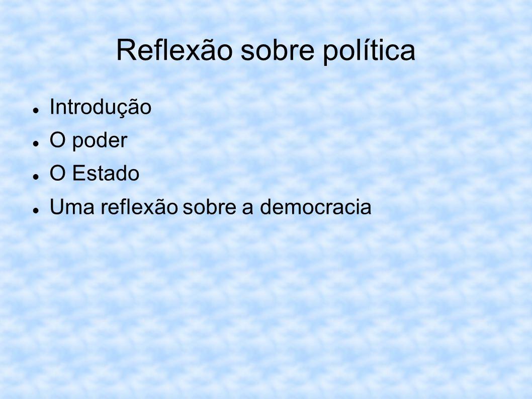 Reflexão sobre política