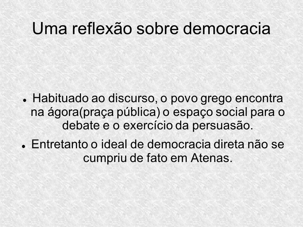 Uma reflexão sobre democracia