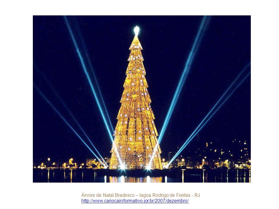 Árvore de Natal Bradesco – lagoa Rodrigo de Freitas - RJ