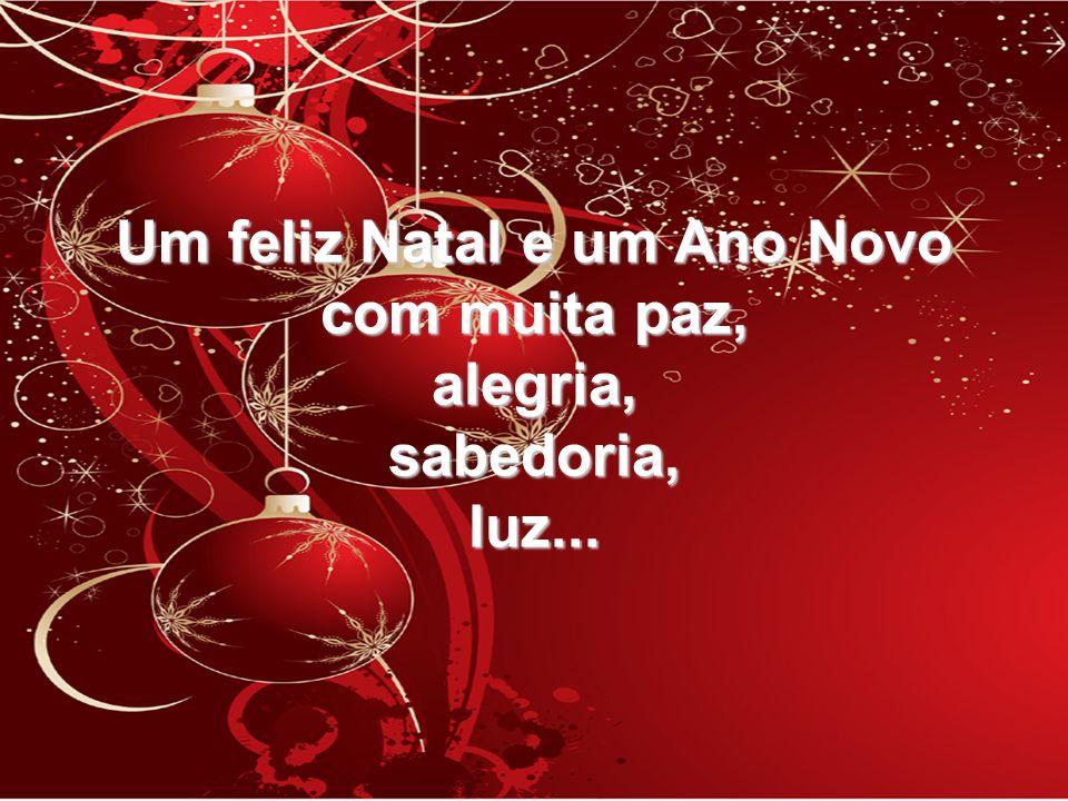 Um feliz Natal e um Ano Novo