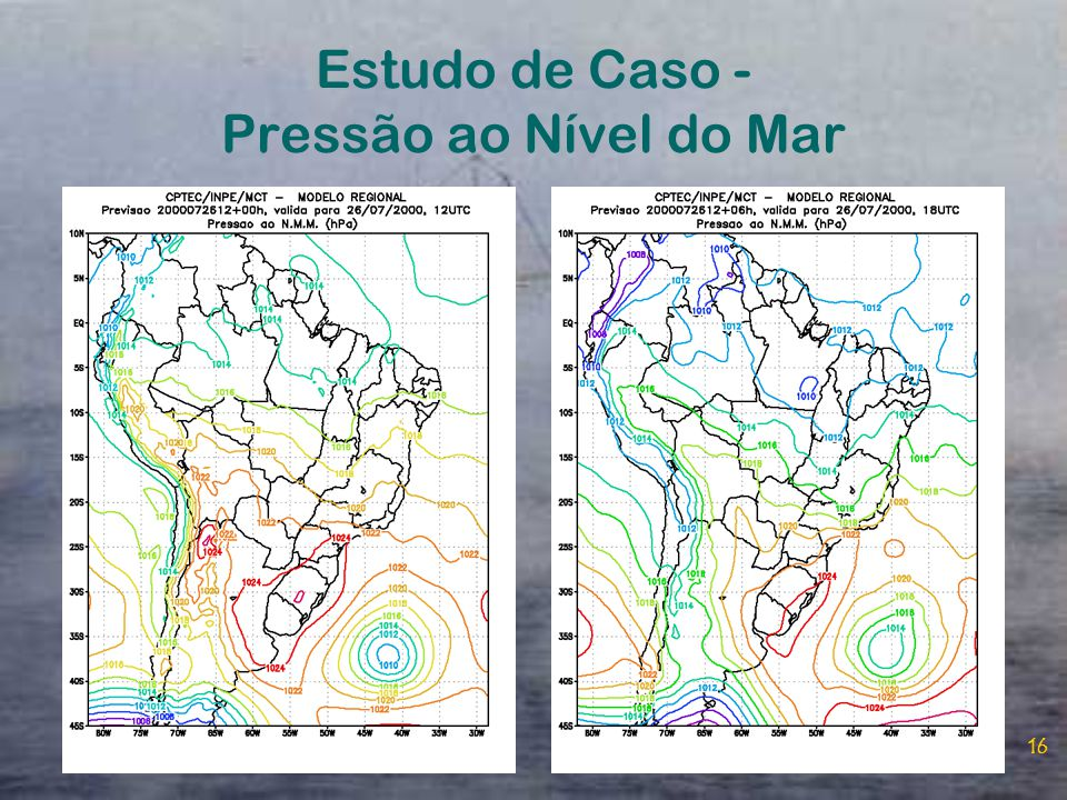 Estudo de Caso - Pressão ao Nível do Mar