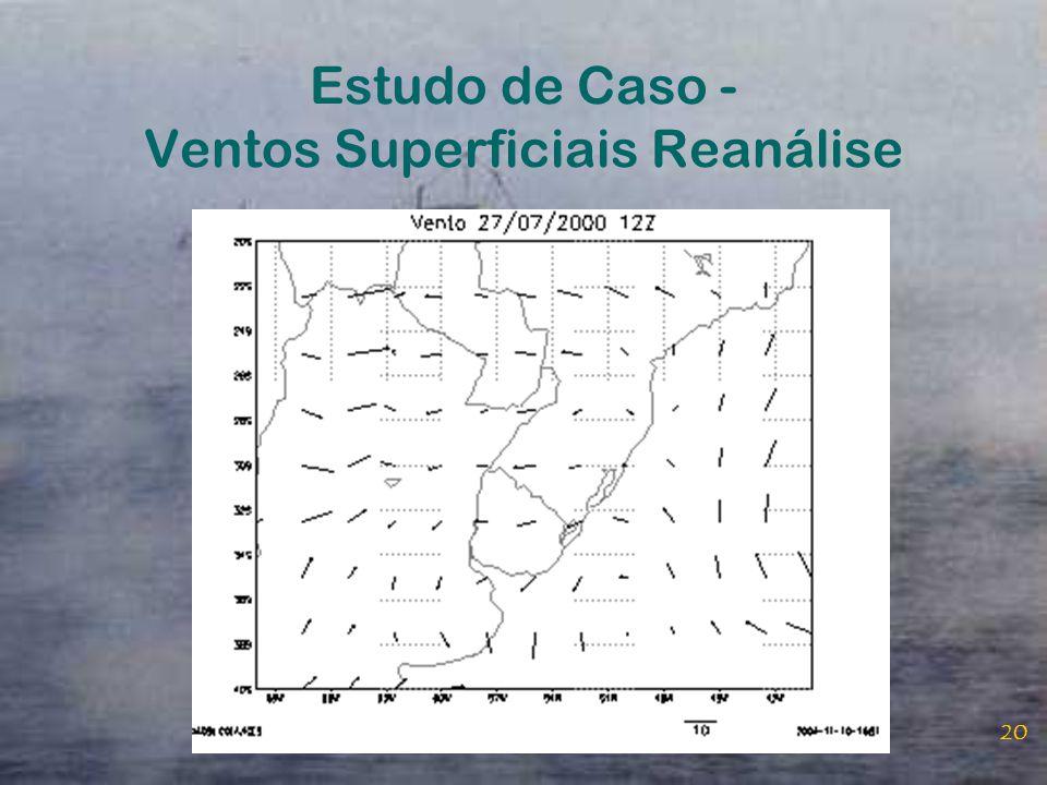 Estudo de Caso - Ventos Superficiais Reanálise