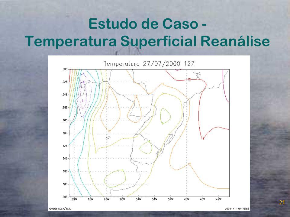 Estudo de Caso - Temperatura Superficial Reanálise
