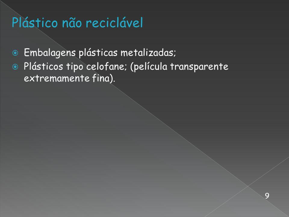 Plástico não reciclável