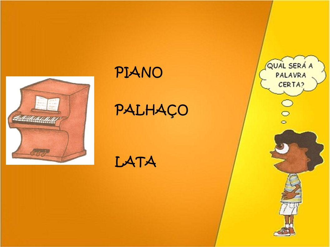 PIANO PALHAÇO LATA 51