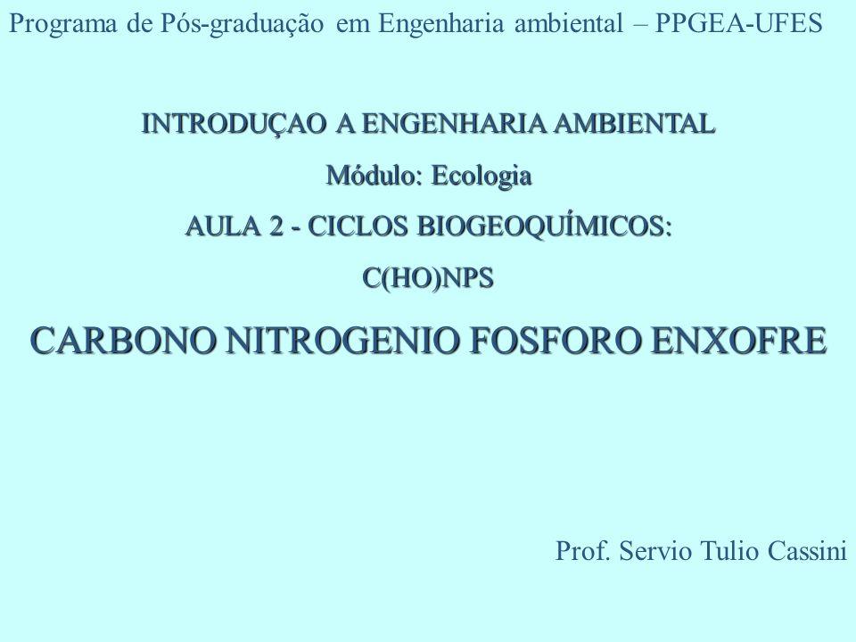 CARBONO NITROGENIO FOSFORO ENXOFRE