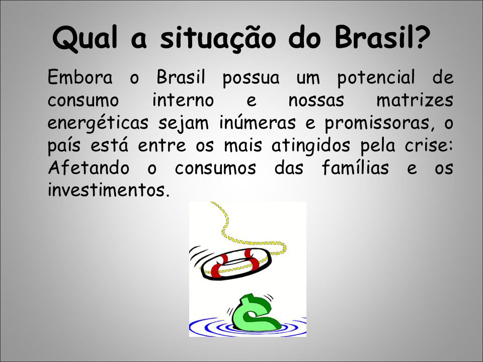 Qual a situação do Brasil