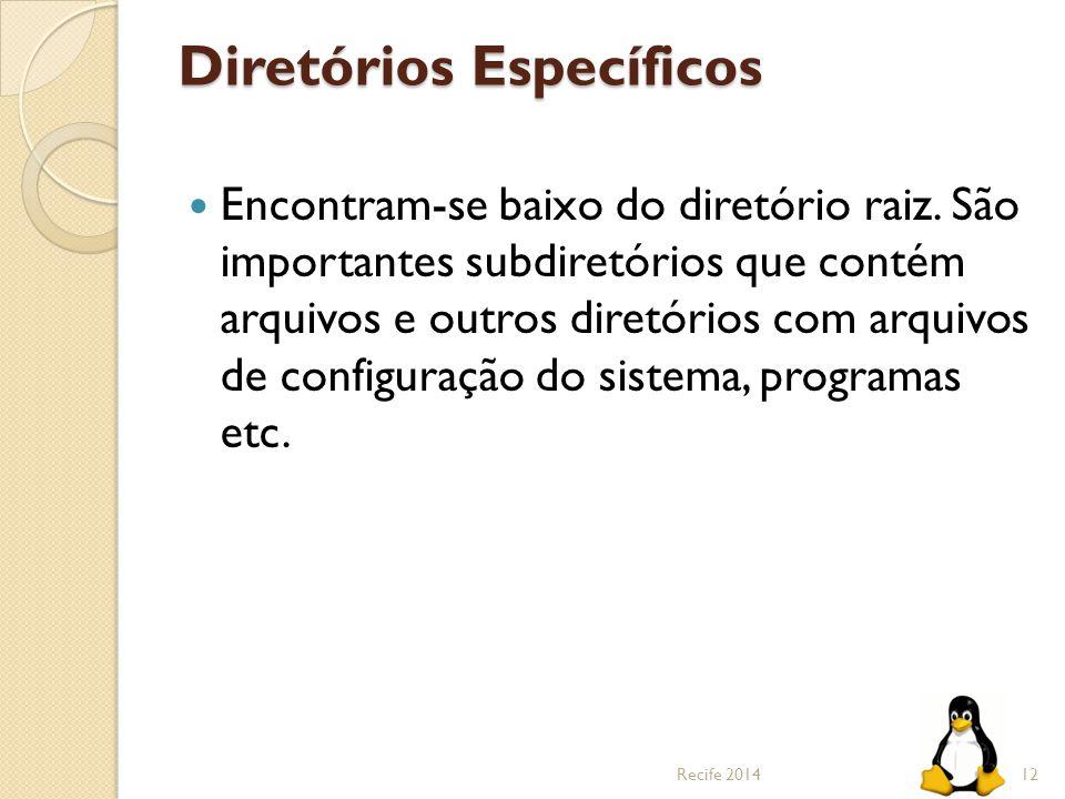 Diretórios Específicos
