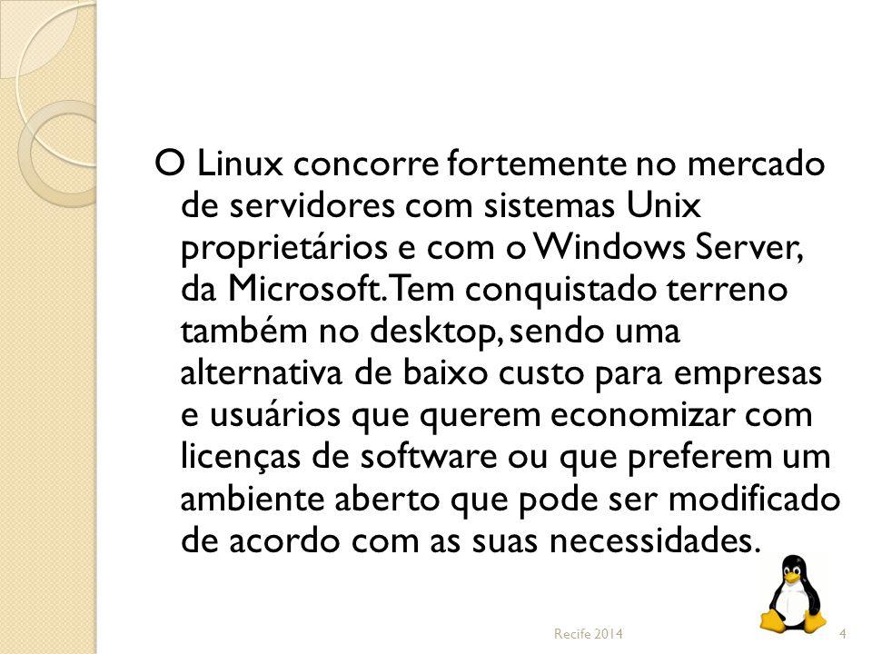 O Linux concorre fortemente no mercado de servidores com sistemas Unix proprietários e com o Windows Server, da Microsoft. Tem conquistado terreno também no desktop, sendo uma alternativa de baixo custo para empresas e usuários que querem economizar com licenças de software ou que preferem um ambiente aberto que pode ser modificado de acordo com as suas necessidades.