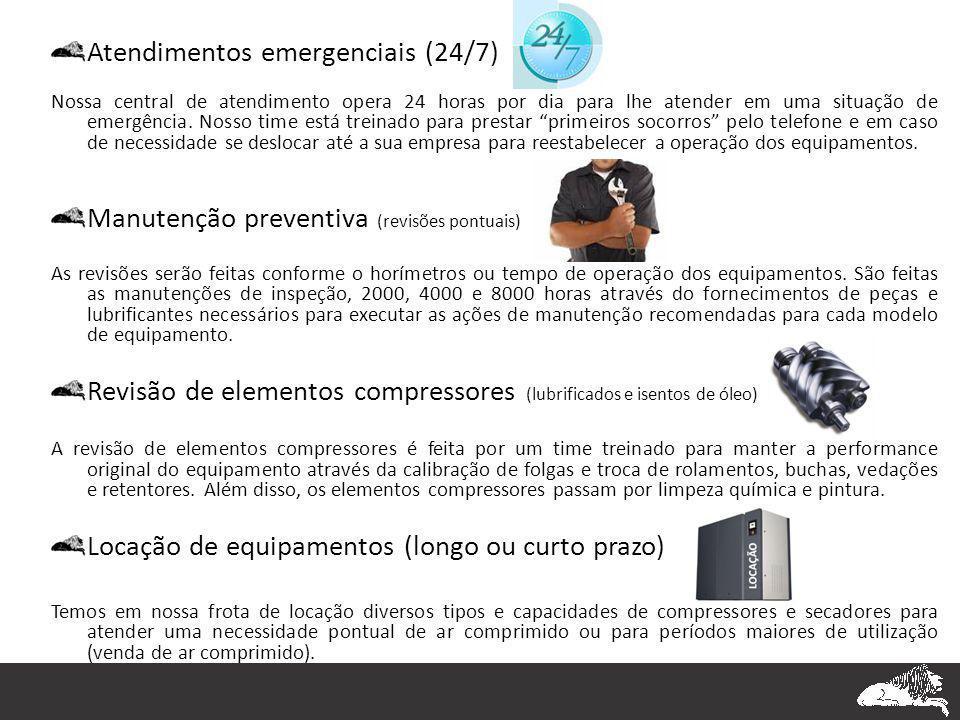 Atendimentos emergenciais (24/7)