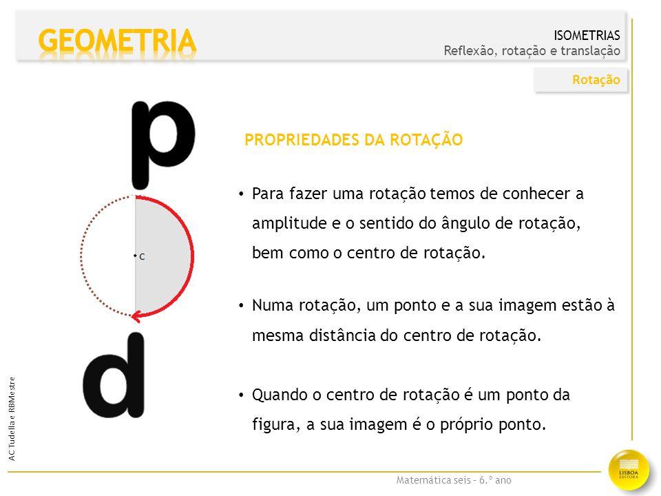 p d GEOMETRIA PROPRIEDADES DA ROTAÇÃO