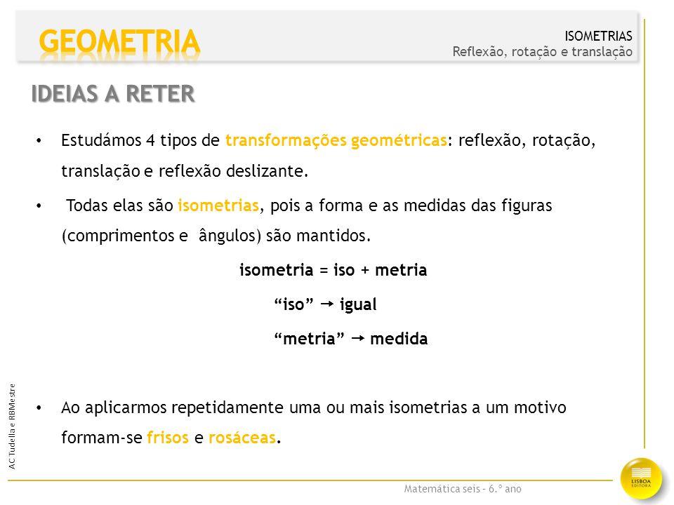 isometria = iso + metria